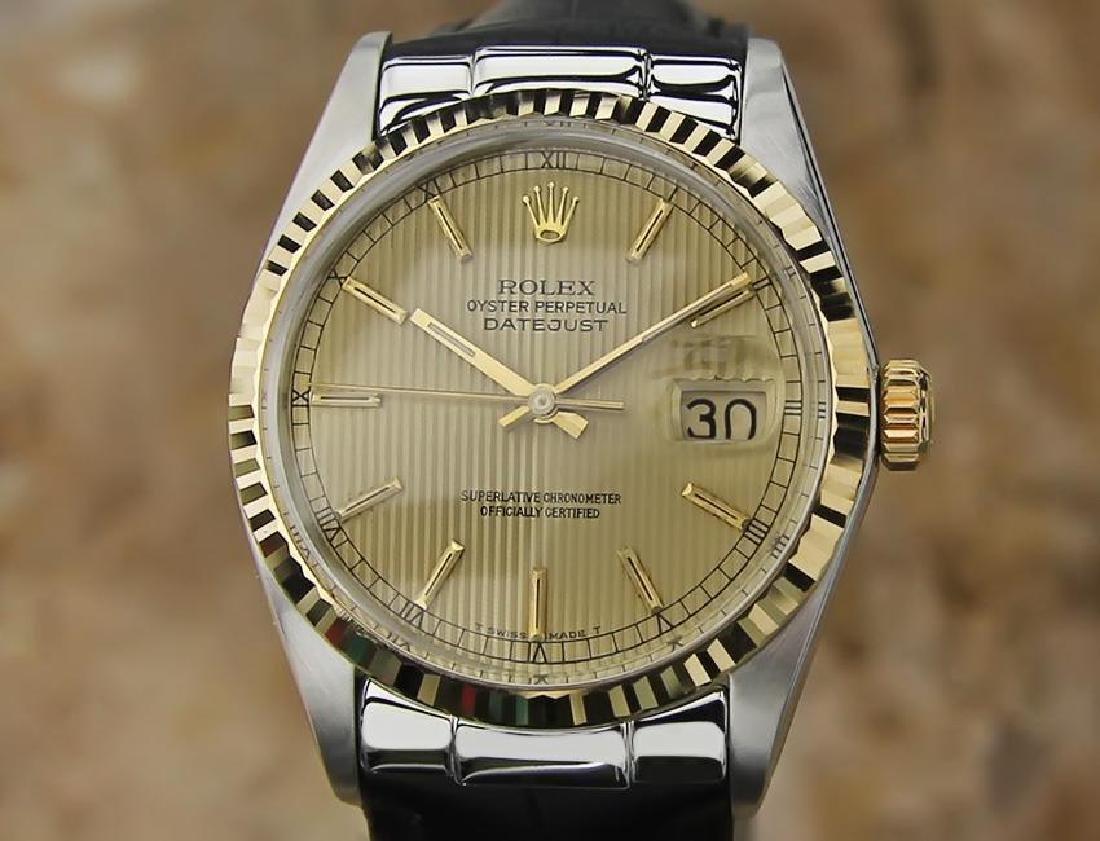 Rolex Ref 16013 Swiss Made Men 18K Gold Stainless St