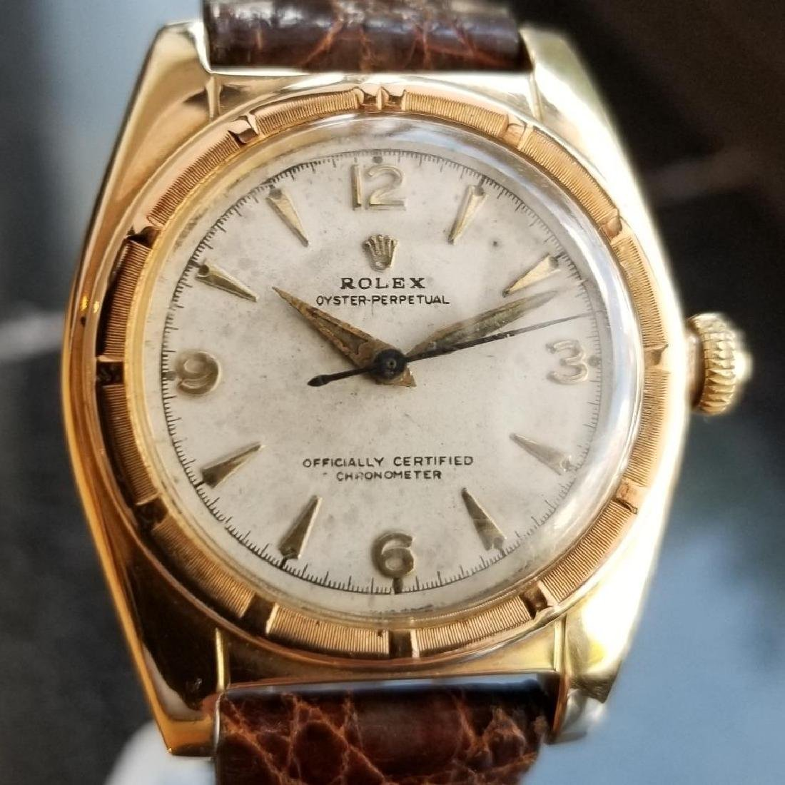 Rolex Signed Billy Graham to Lee Fisher 1950 Solid Gold