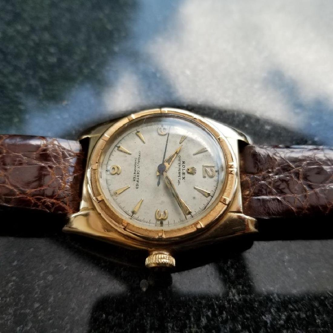 Rolex Signed Billy Graham to Lee Fisher 1950 Solid Gold - 2