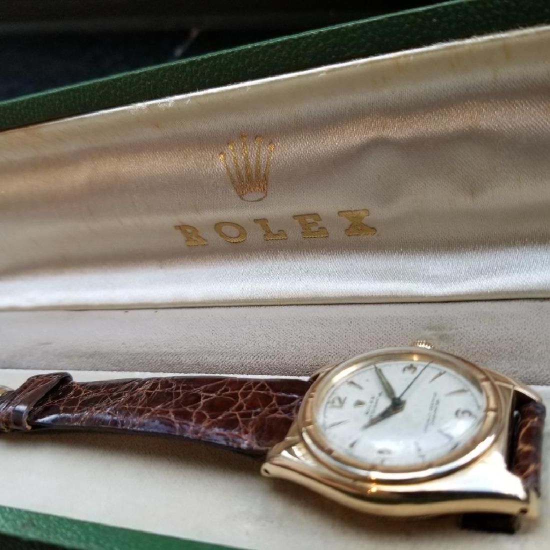Rolex Signed Billy Graham to Lee Fisher 1950 Solid Gold - 5