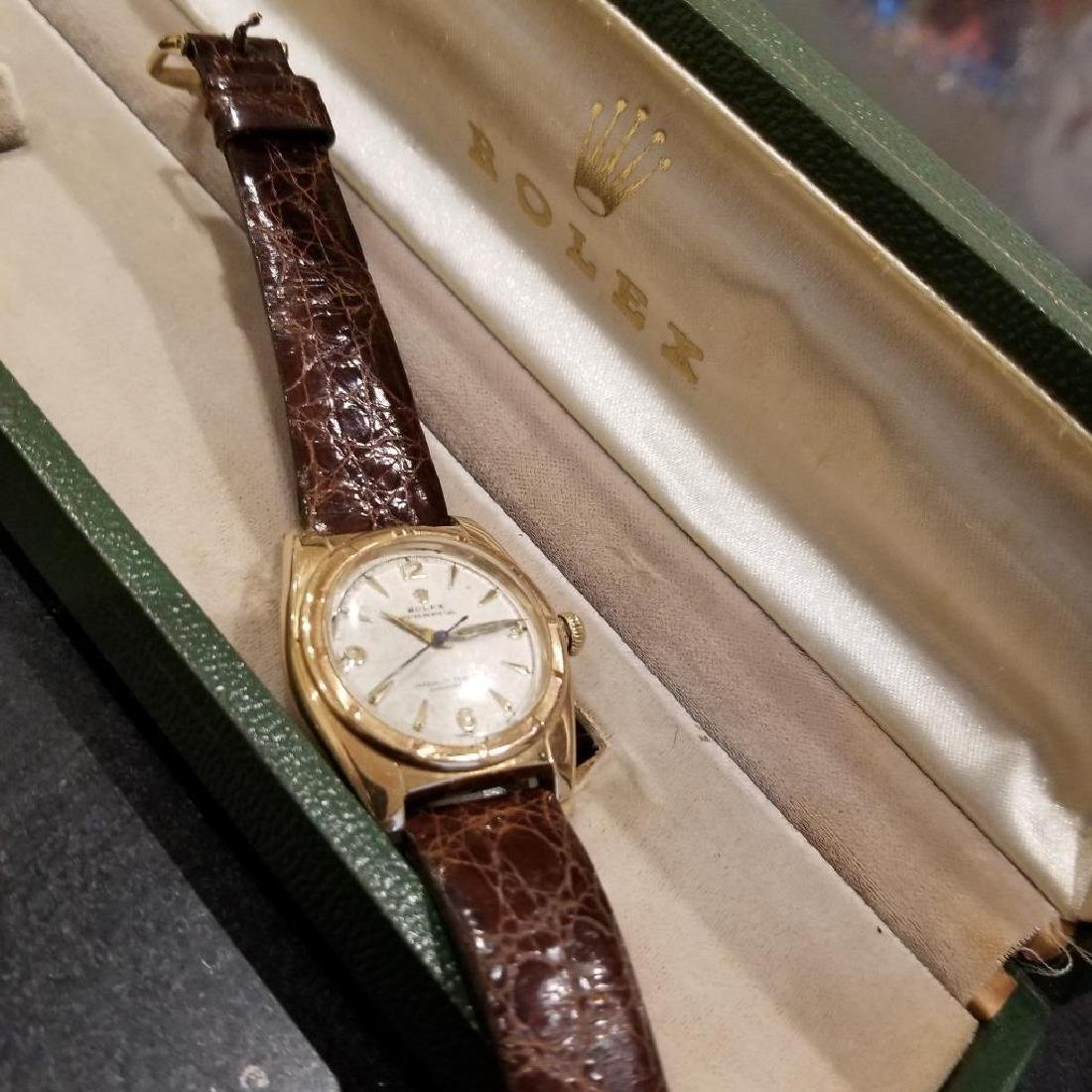 Rolex Signed Billy Graham to Lee Fisher 1950 Solid Gold - 6