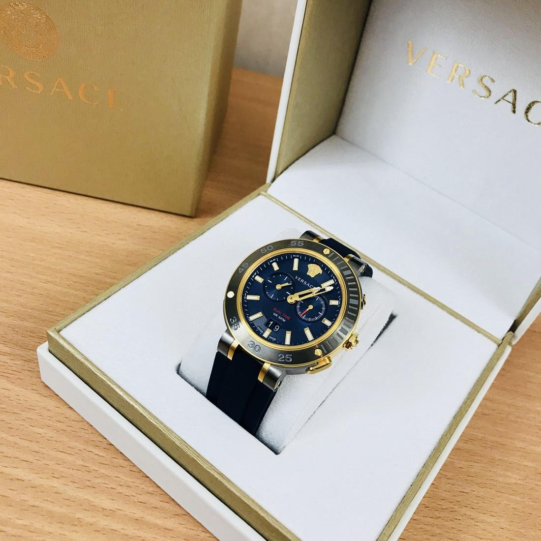 VERSACE V-EXTREME Swiss Made Dual Time Luxury Men's - 3