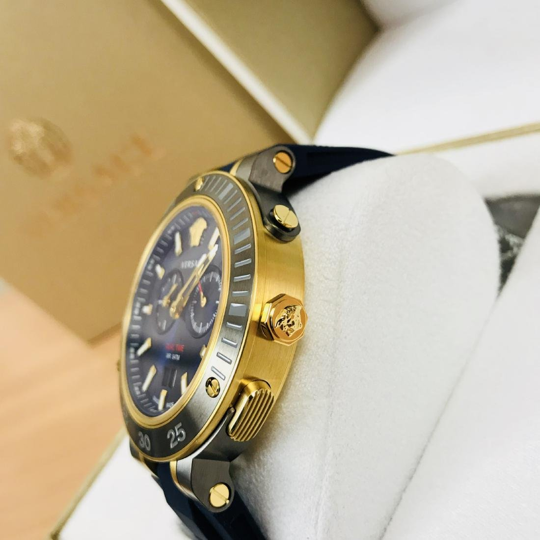 VERSACE V-EXTREME Swiss Made Dual Time Luxury Men's - 7