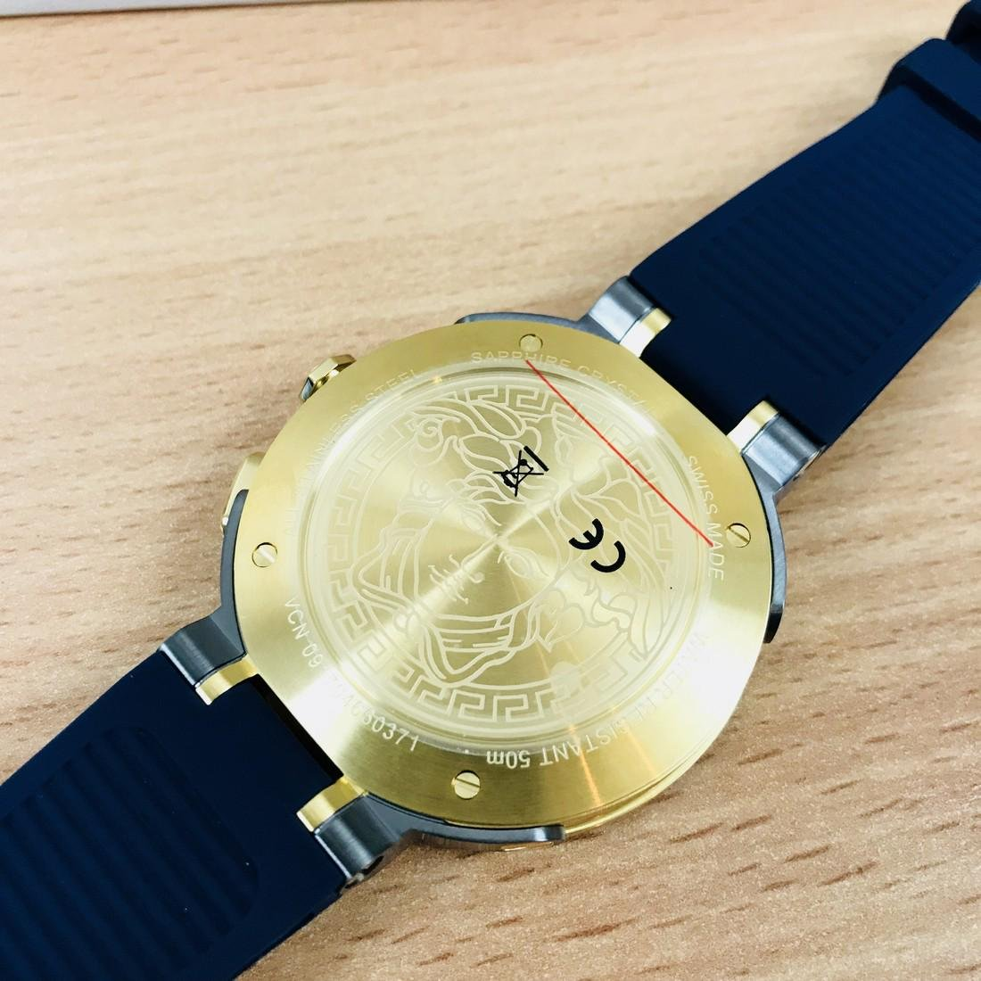 VERSACE V-EXTREME Swiss Made Dual Time Luxury Men's - 9