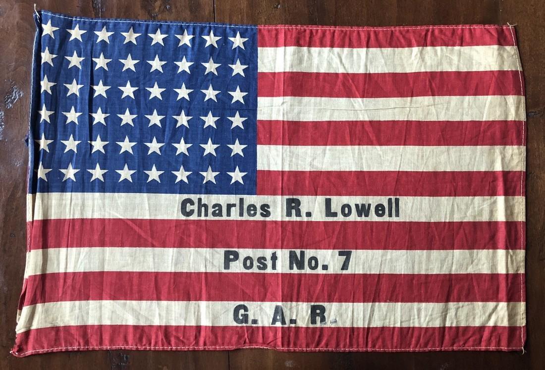 48 Star Charles R. Lowell Post No. 7 G.A.R Flag