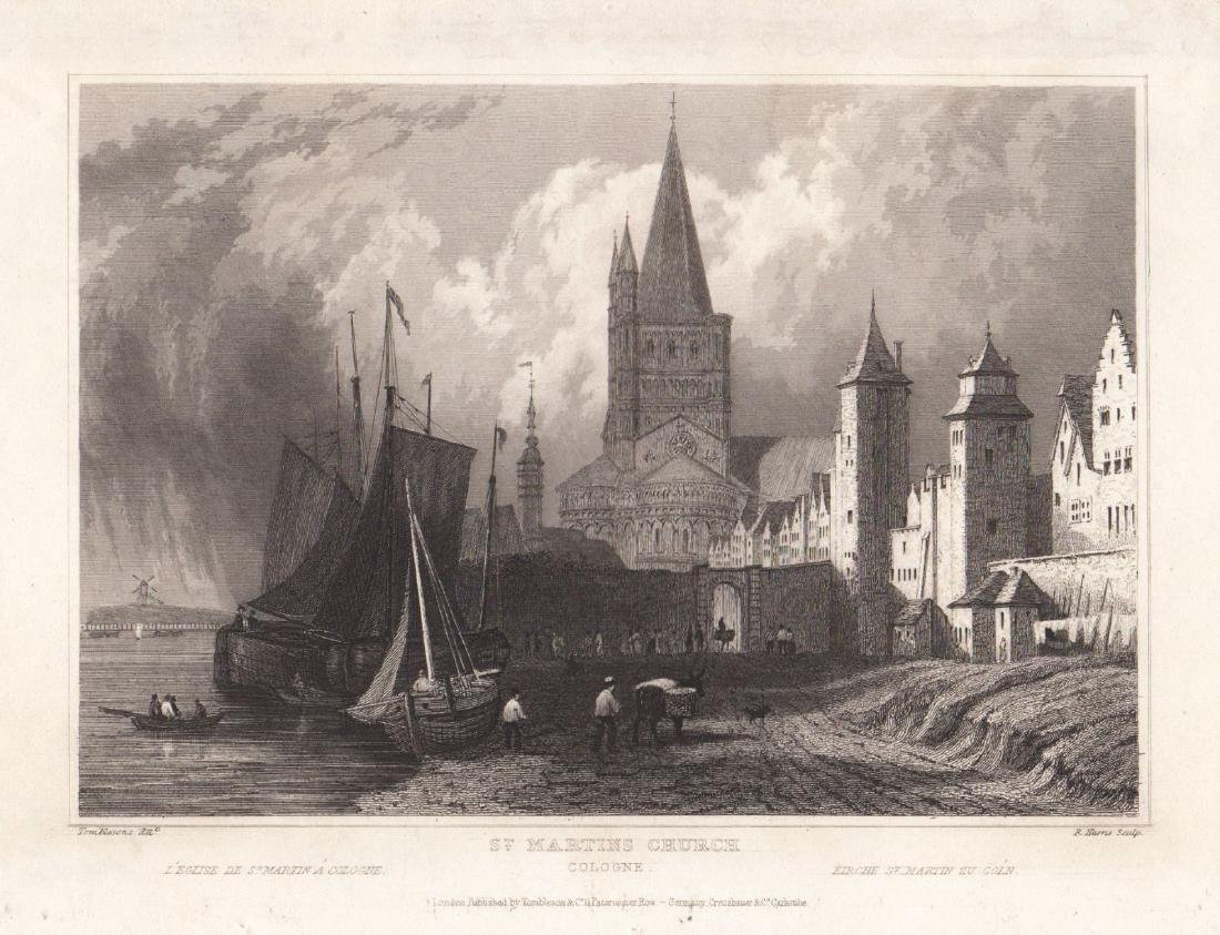 Tombleson: View of Cologne, St. Martin's Church