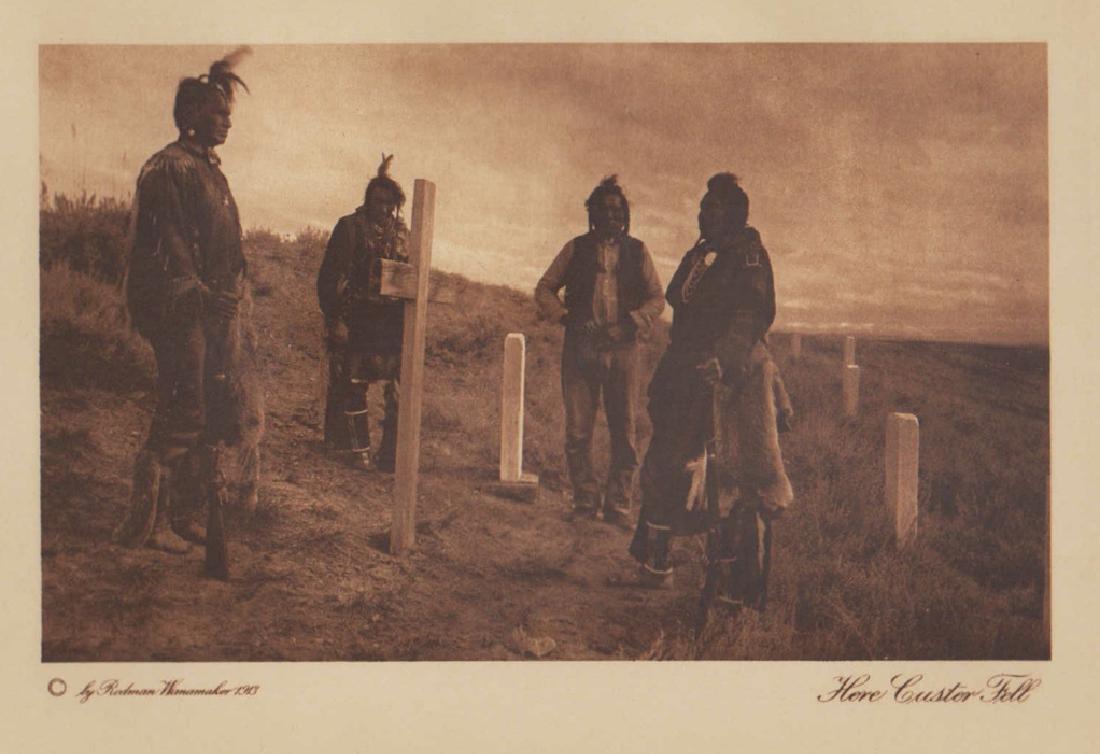 J.K. Dixon Here Custer Fell