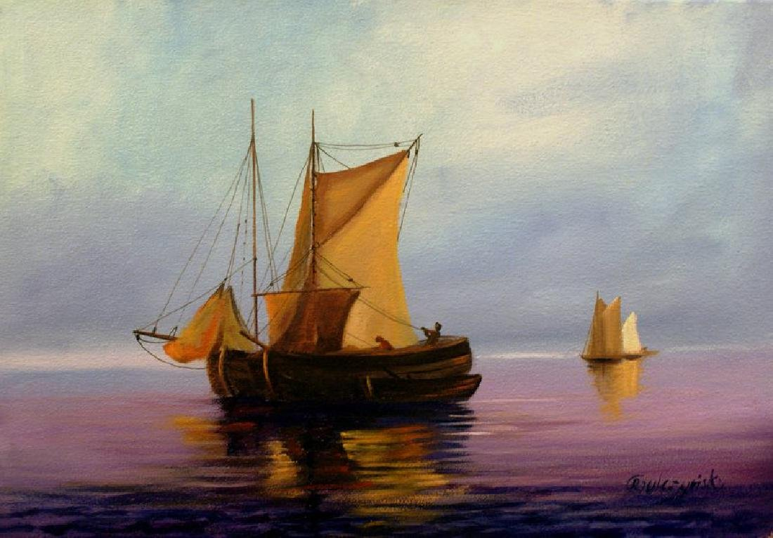 Rafal Gulczynski At sea oil on canvas