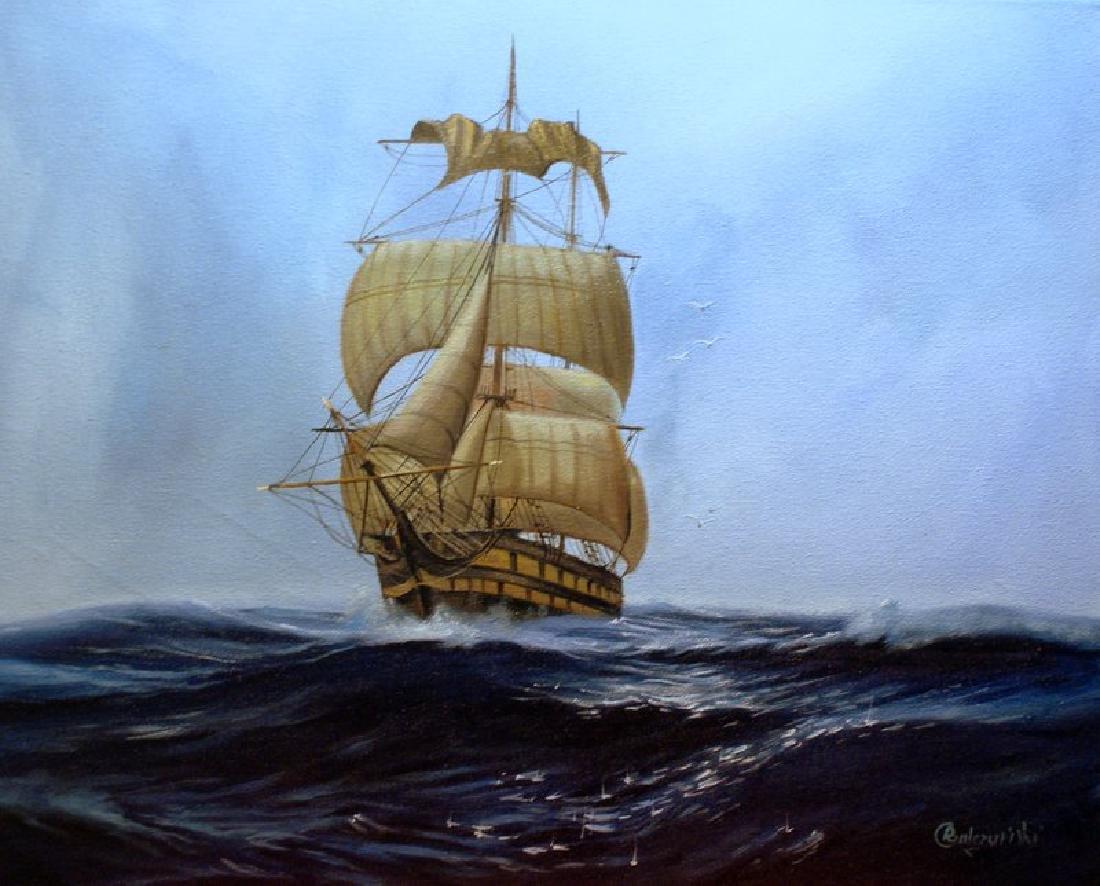 Rafal Gulczynski At sea oil on canvas