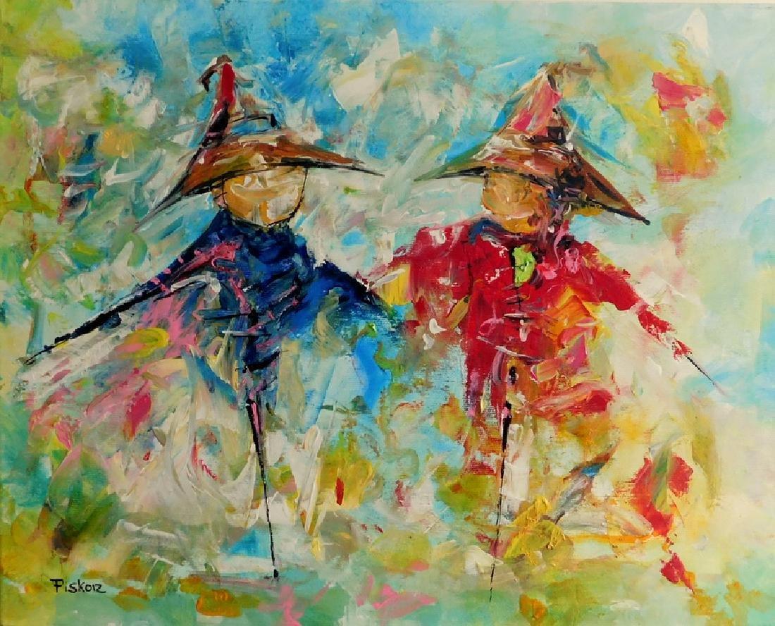 Piotr Piskorz Dancing Michaels Painting