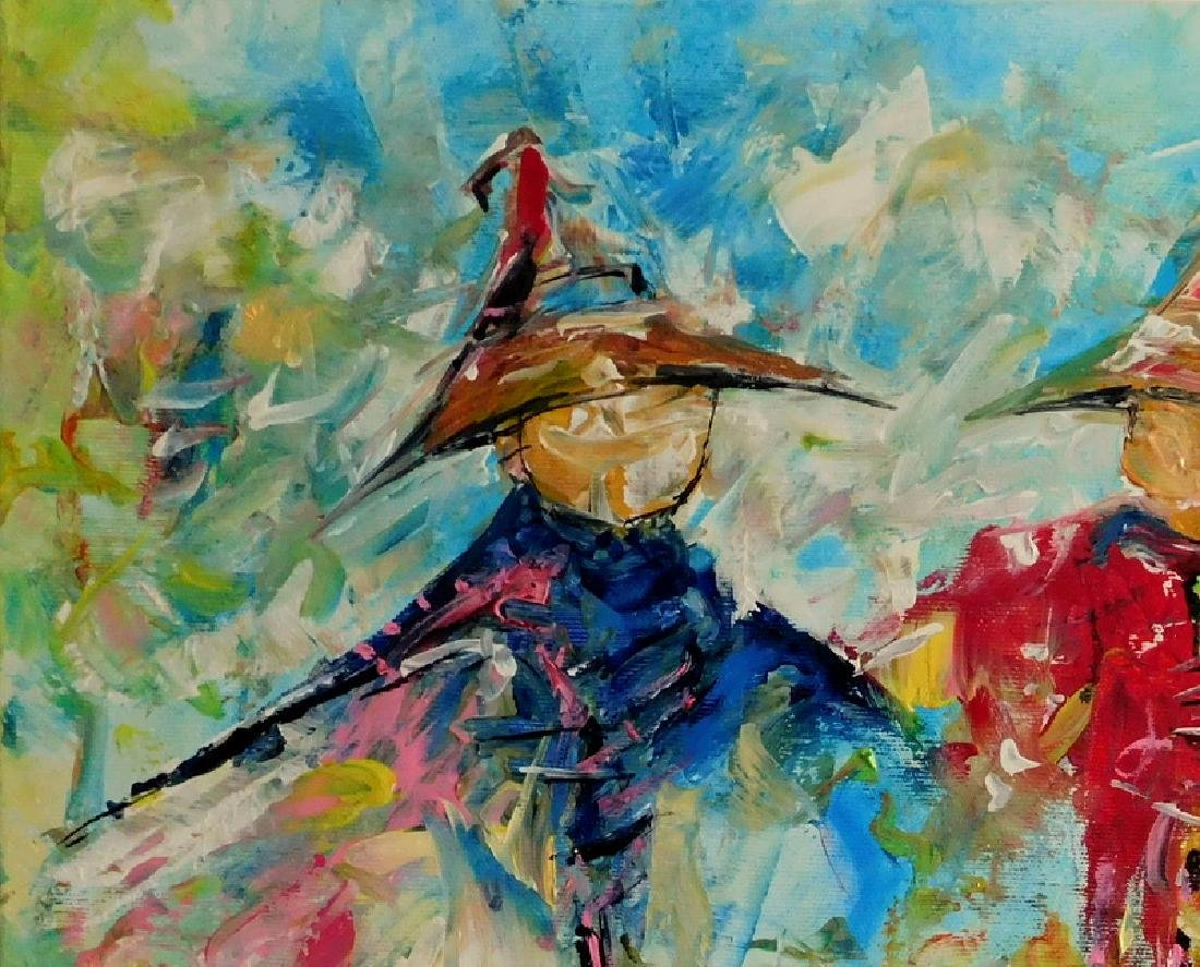 Piotr Piskorz Dancing Michaels Painting - 2