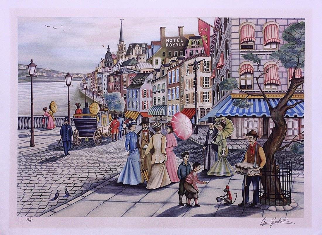 Hand-signed Lithograph Ari Gradus Afternoon Stroll