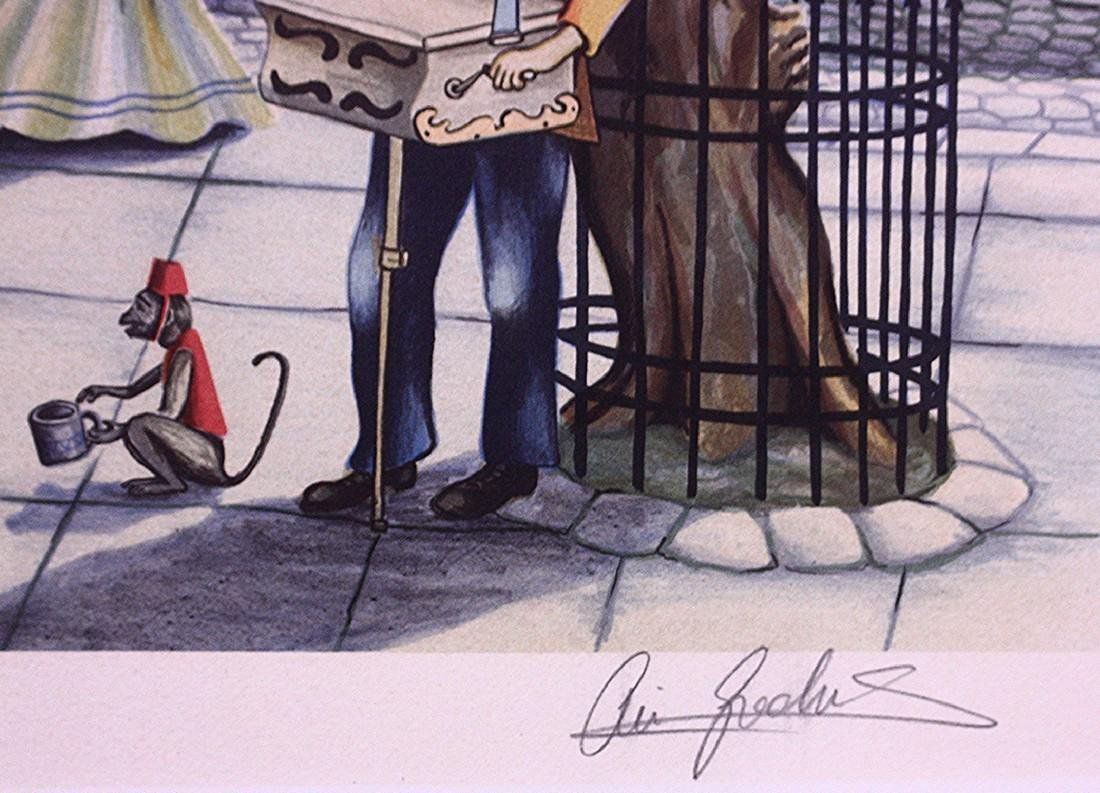 Hand-signed Lithograph Ari Gradus Afternoon Stroll - 3