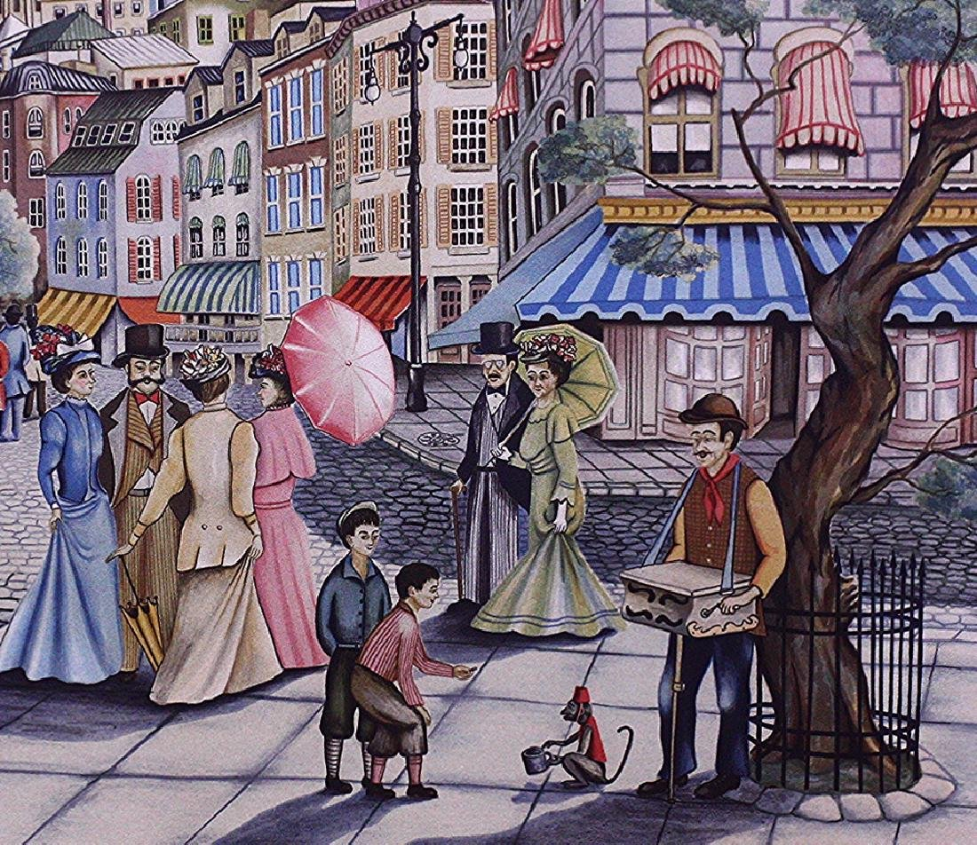Hand-signed Lithograph Ari Gradus Afternoon Stroll - 4