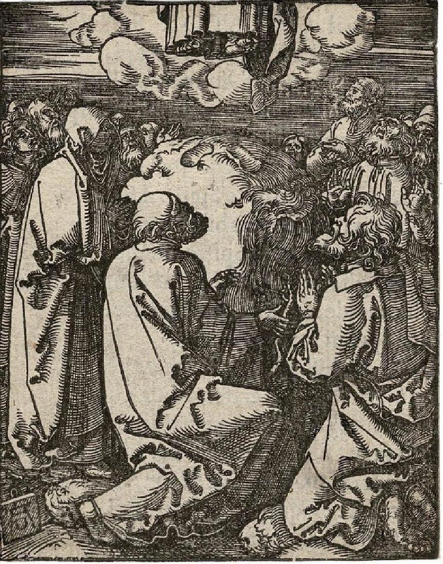 Albrecht Durer Woodcut Ascension Day - 2