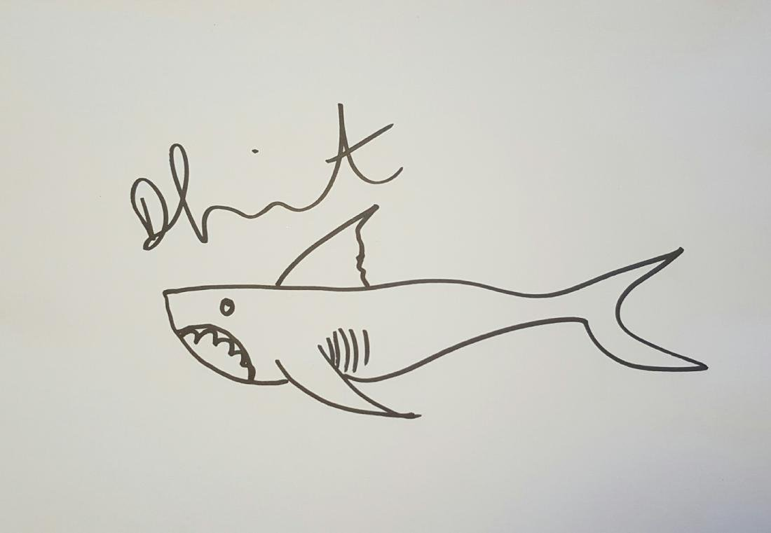 Damien Hirst Shark Sketch 2011