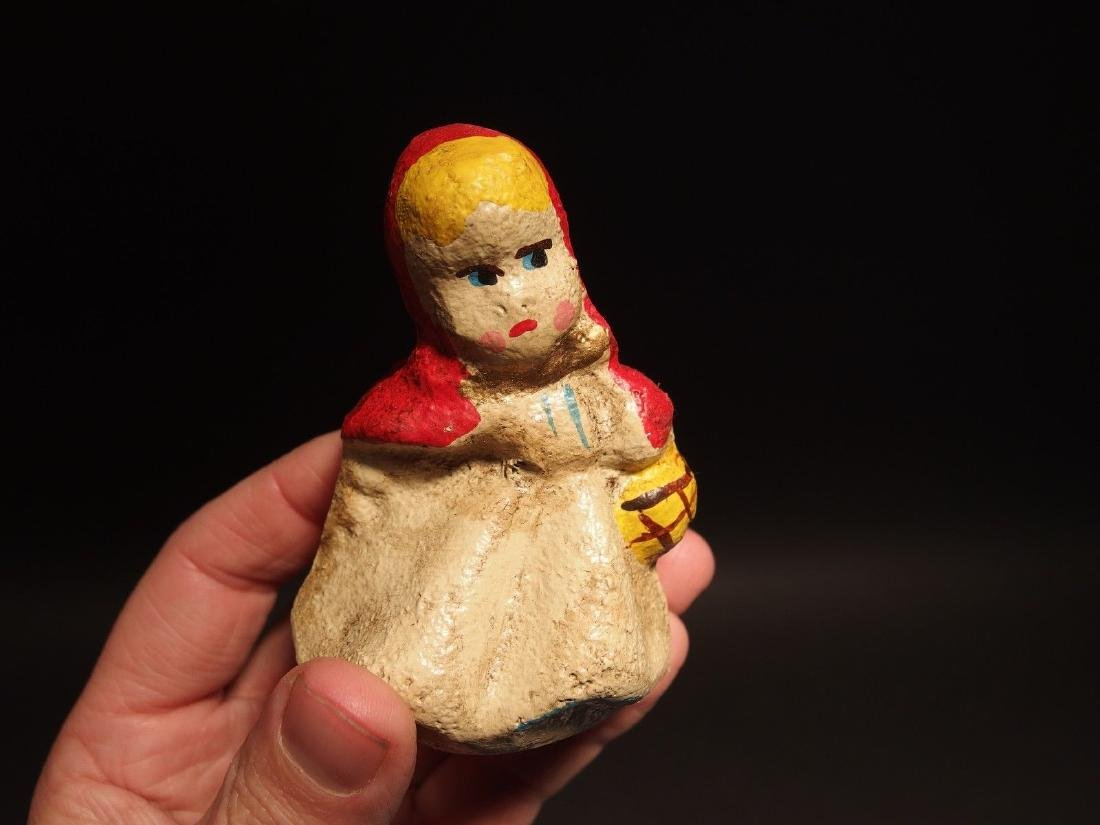 Miniature Cast Iron Little Red Riding Hood Dime Coin