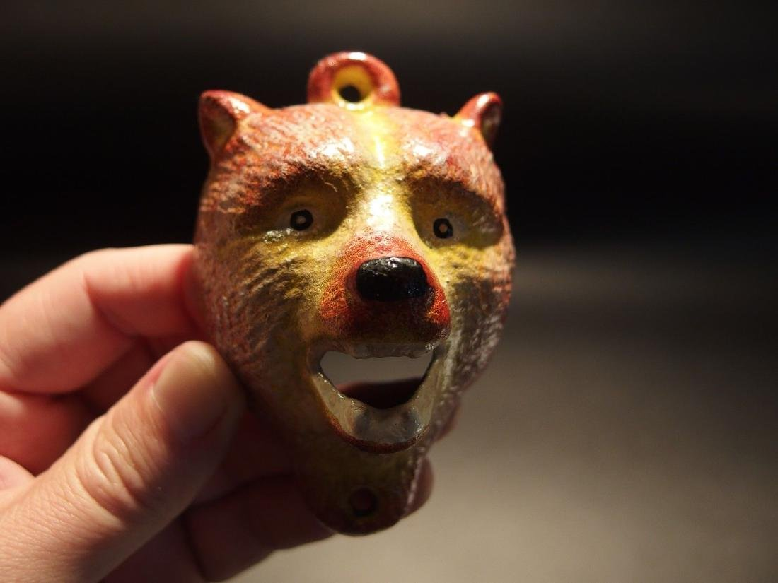Cast Iron Figural Wolf Beer Bottle Opener