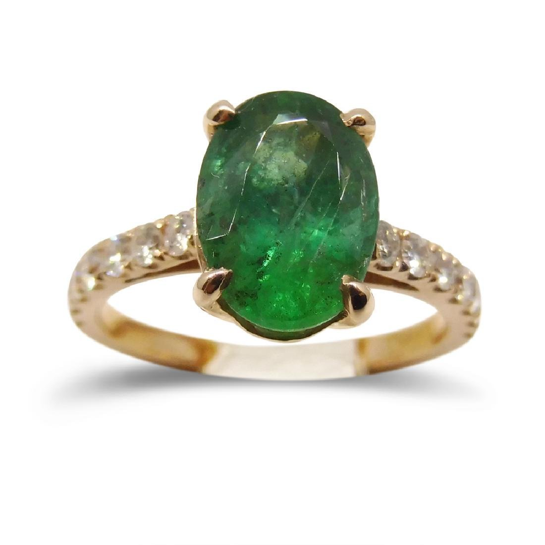 2.09ct. Emerald Ring in 14kt Pink/Rose Gold