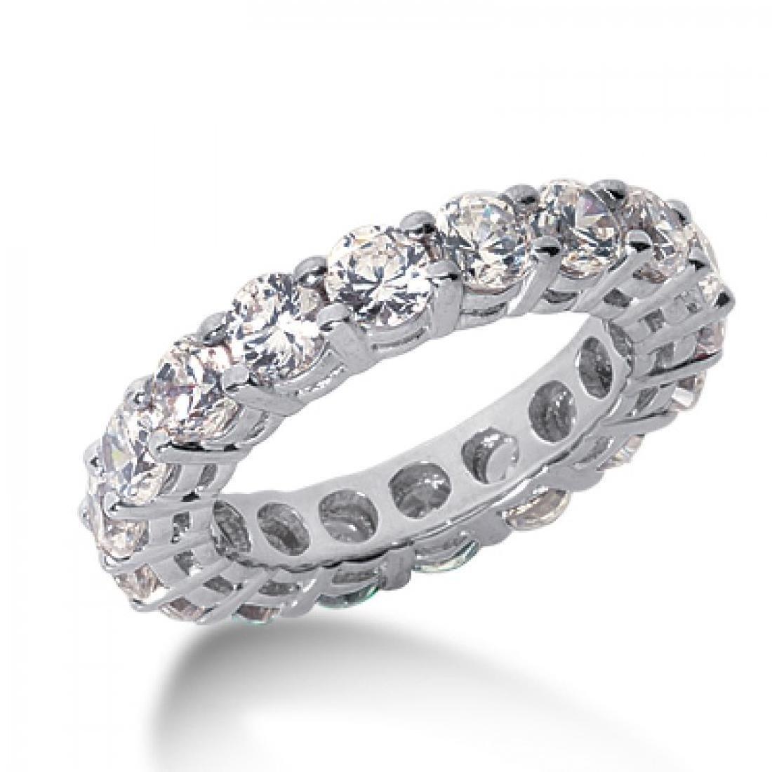 14K White Gold Diamond Eternity Band Ring, 2.22ct