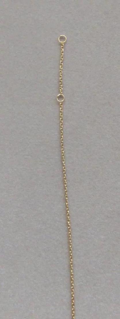 Vintage 24K Yellow Gold Red Garnet Necklace - 5