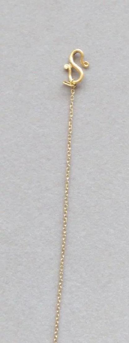 Vintage 24K Yellow Gold Red Garnet Necklace - 6