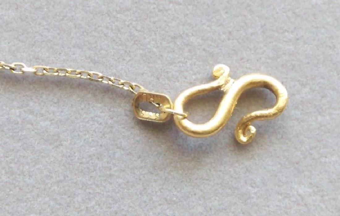 Vintage 24K Yellow Gold Red Garnet Necklace - 7