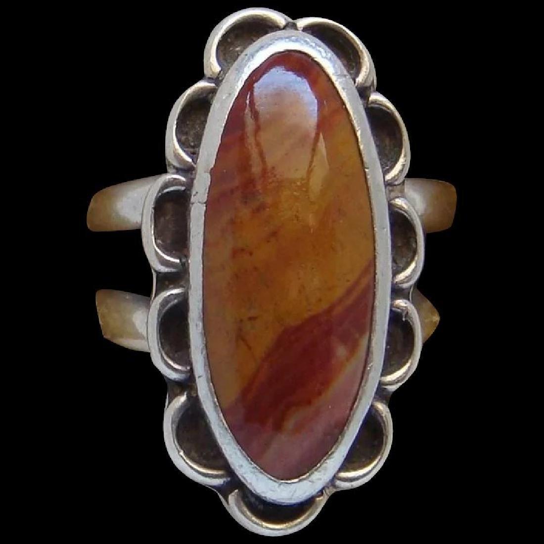 Vintage Sterling Silver Desert Jasper Southwestern Ring
