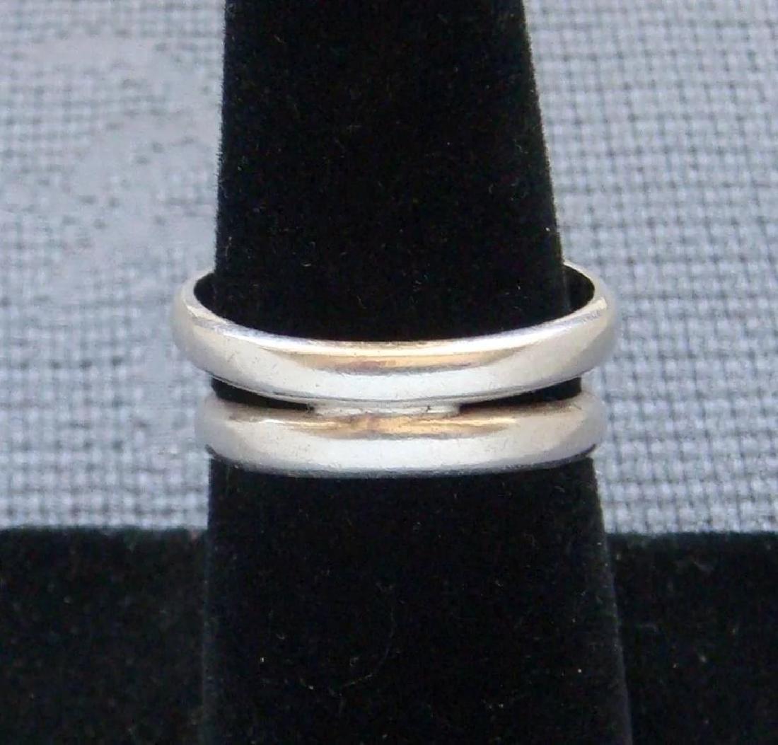 Vintage Sterling Silver Desert Jasper Southwestern Ring - 7