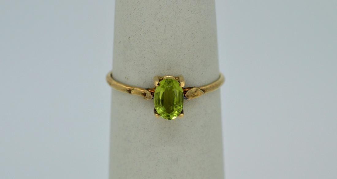 Ladies 14k Yellow Gold & Peridot Ring, .6ctw
