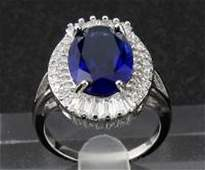 525 ct Natural Sapphire 14KT Solid White Gold