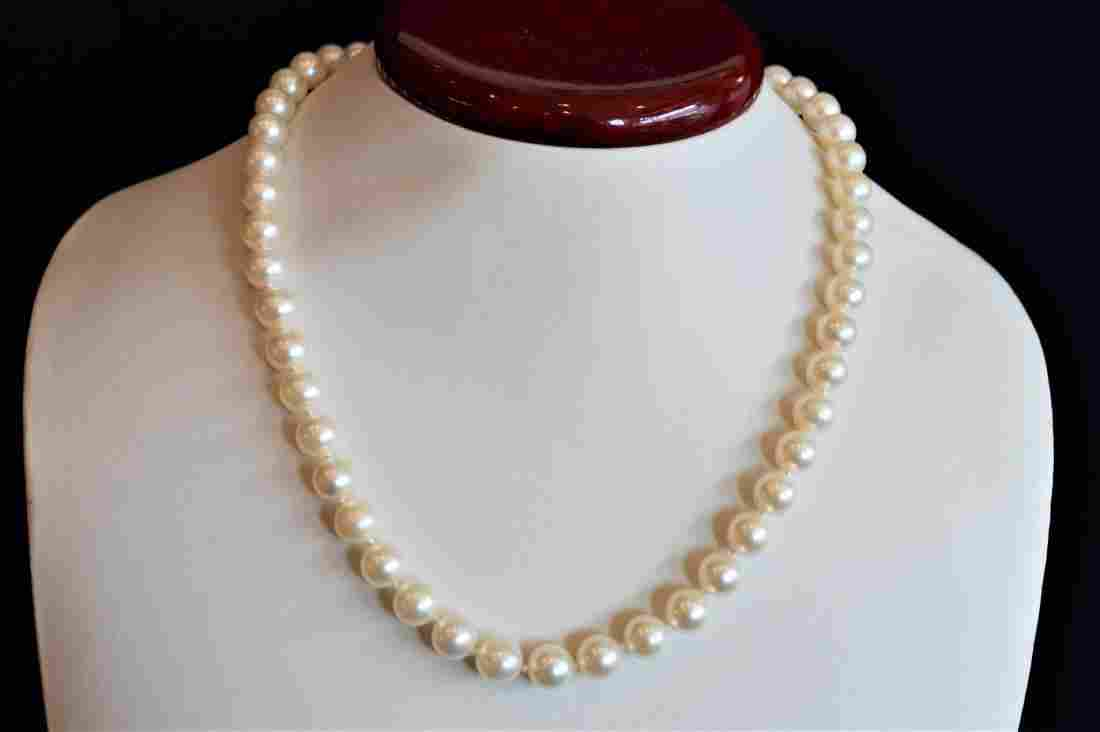 """Ladies 17"""" Honora Pearl Necklace with 14k Gold Clasp"""