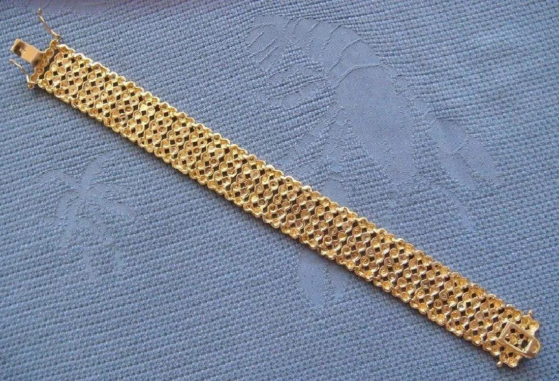Sterling Silver 24K Vermeil Diamond Bracelet, 1ctw - 2