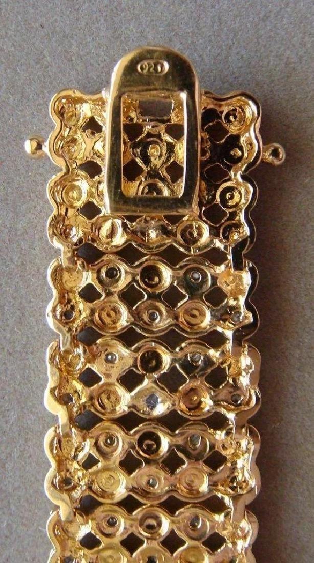 Sterling Silver 24K Vermeil Diamond Bracelet, 1ctw - 3