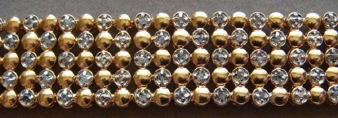 Sterling Silver 24K Vermeil Diamond Bracelet, 1ctw - 4