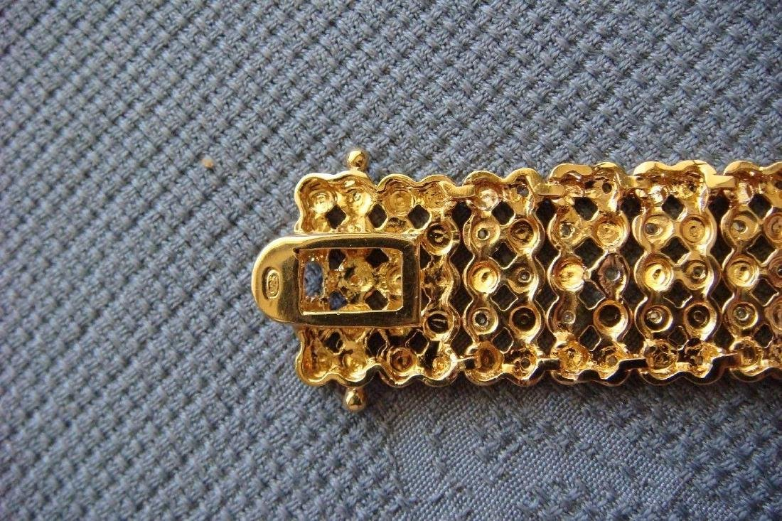 Sterling Silver 24K Vermeil Diamond Bracelet, 1ctw - 5