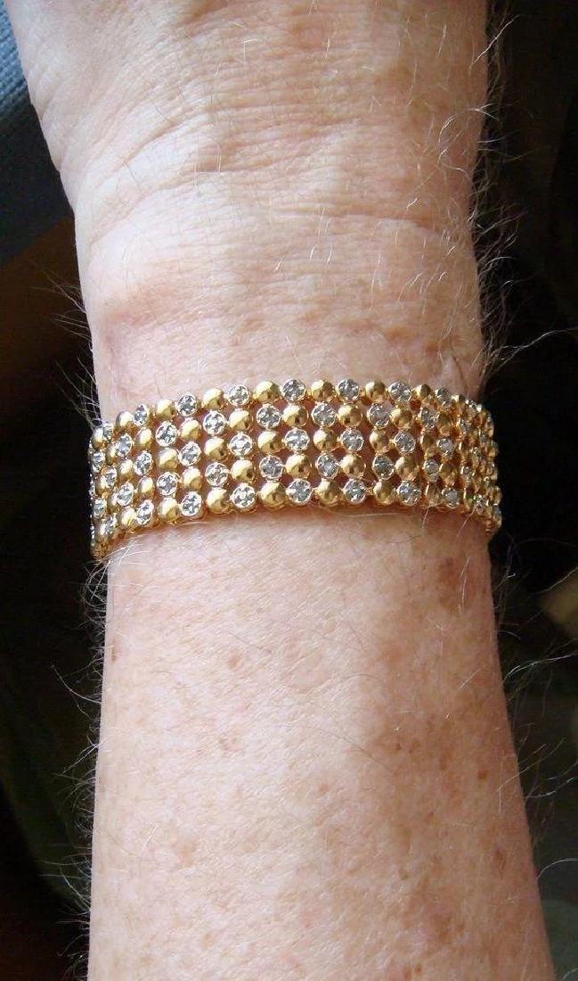 Sterling Silver 24K Vermeil Diamond Bracelet, 1ctw - 9