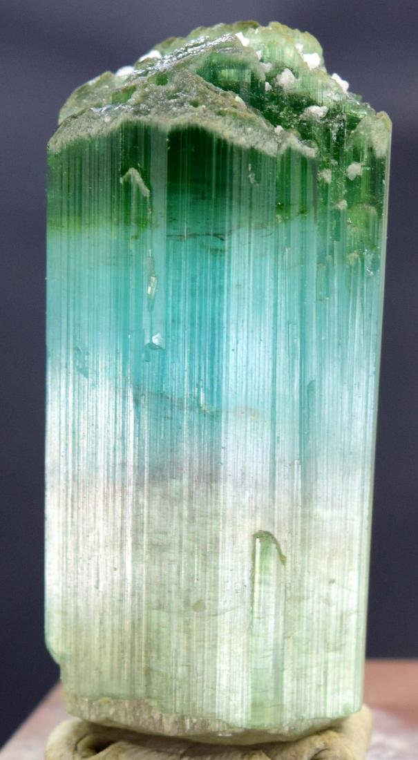 Terminated & Undamaged Blue Tourmaline Crystal with