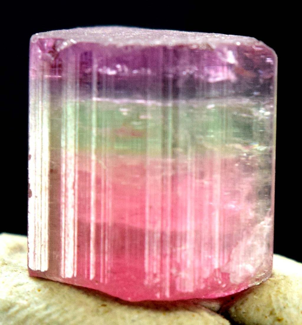 Terminated Purplish Pink Cap Tourmaline Crystal