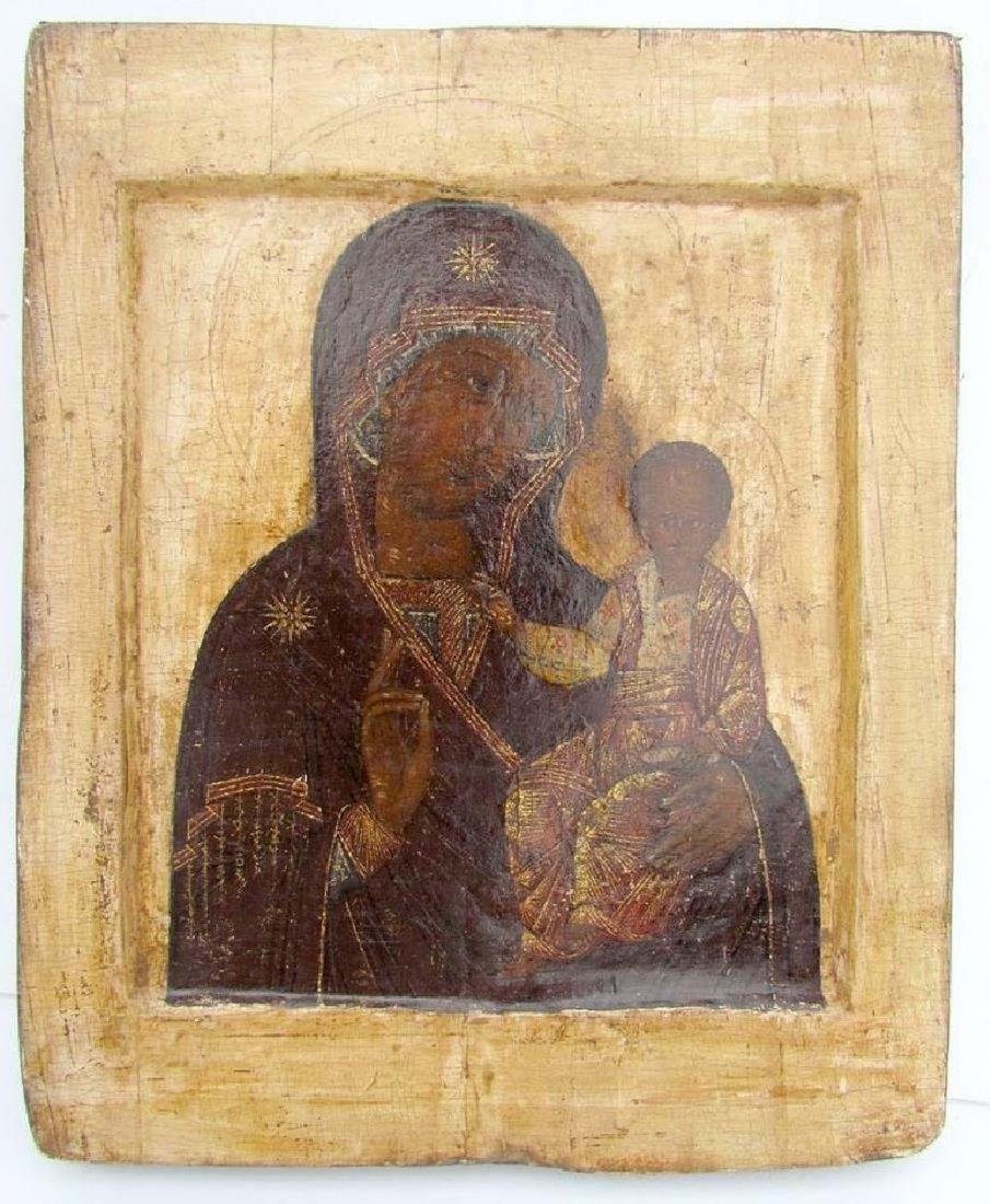 17th CENTURY ANTIQUE RARE RUSSIAN ICON of SMOLENSK
