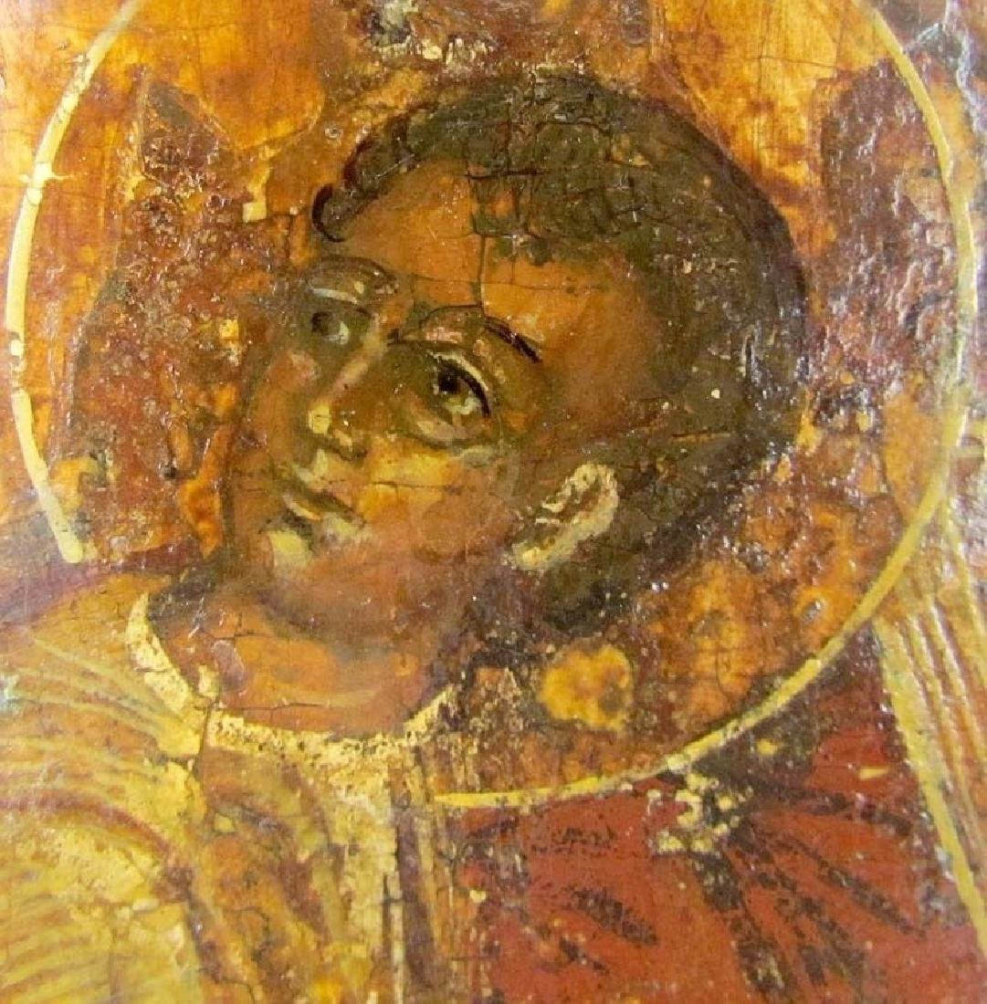 17th CENTURY RARE ANTIQUE RUSSIAN ICON VIRGIN OF - 4