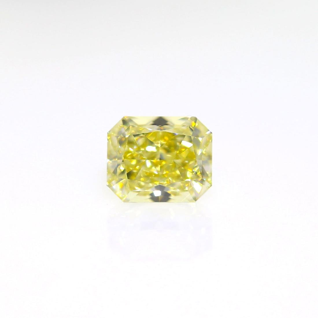 Natural Fancy Light Yellow 1.02 ct Cushion VVS1