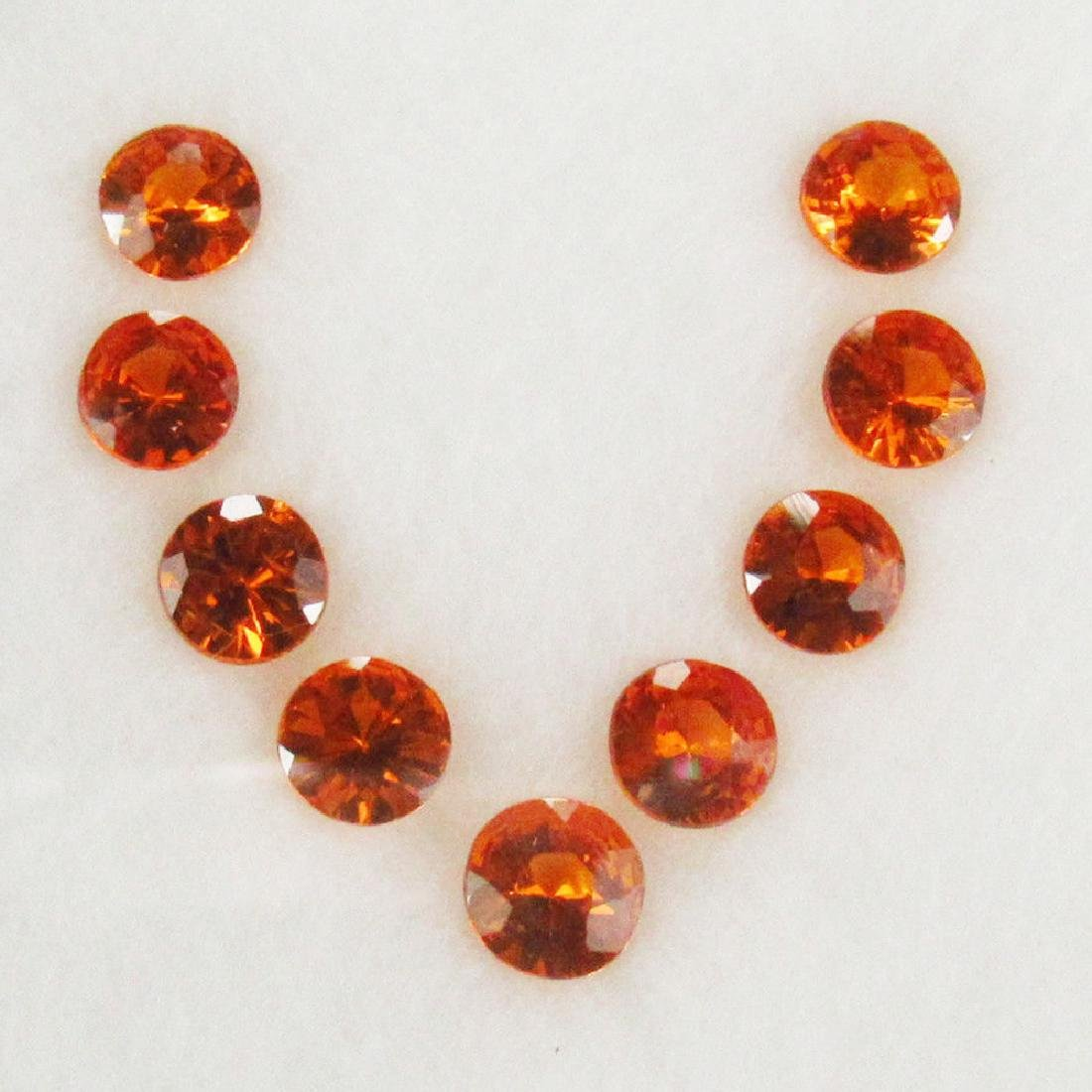 4.00 Ctw Natural 9 Loose Spessartite Garnet Round