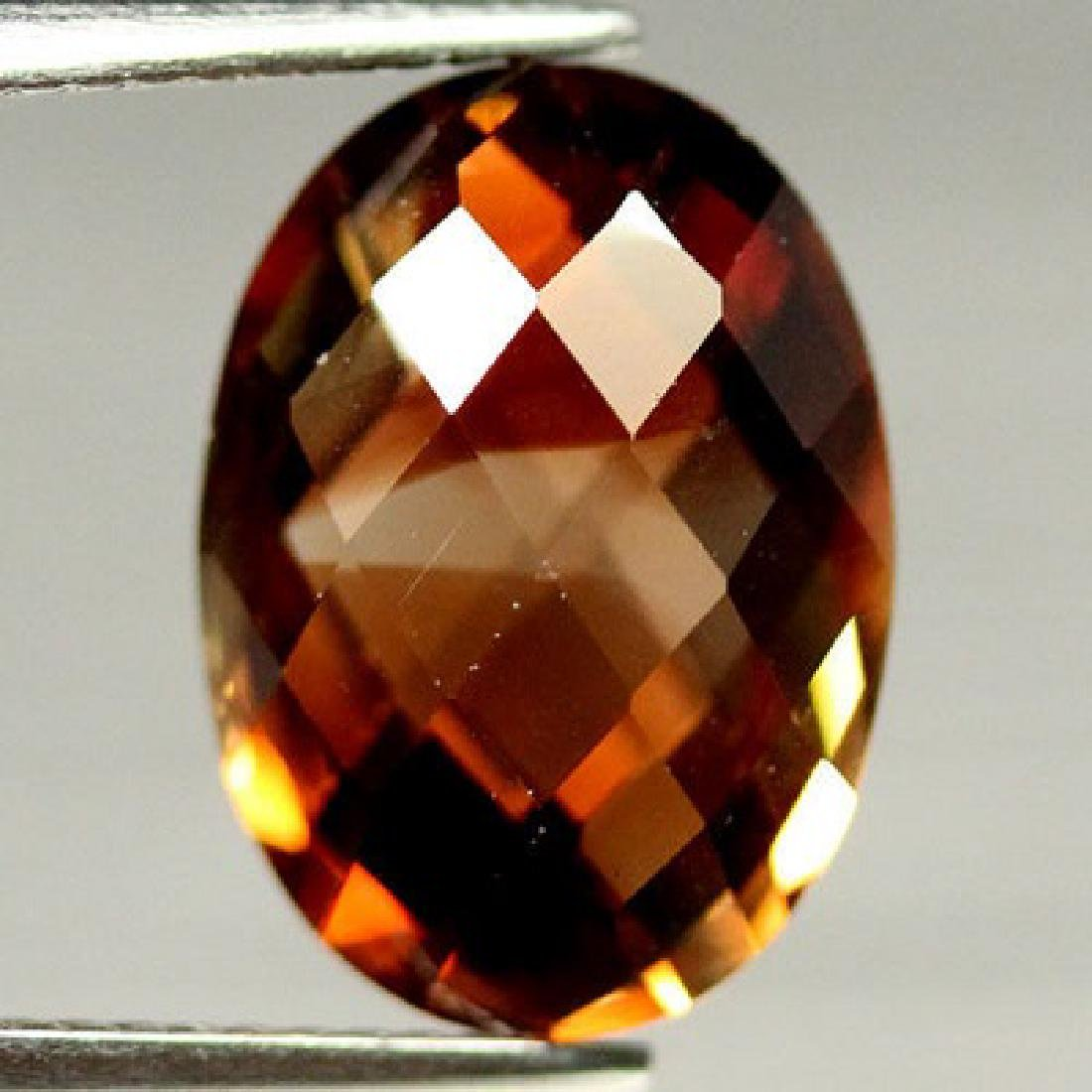 7.13 CT AAA! NATURAL!  CHAMPAGNE BRAZILIAN TOPAZ OVAL