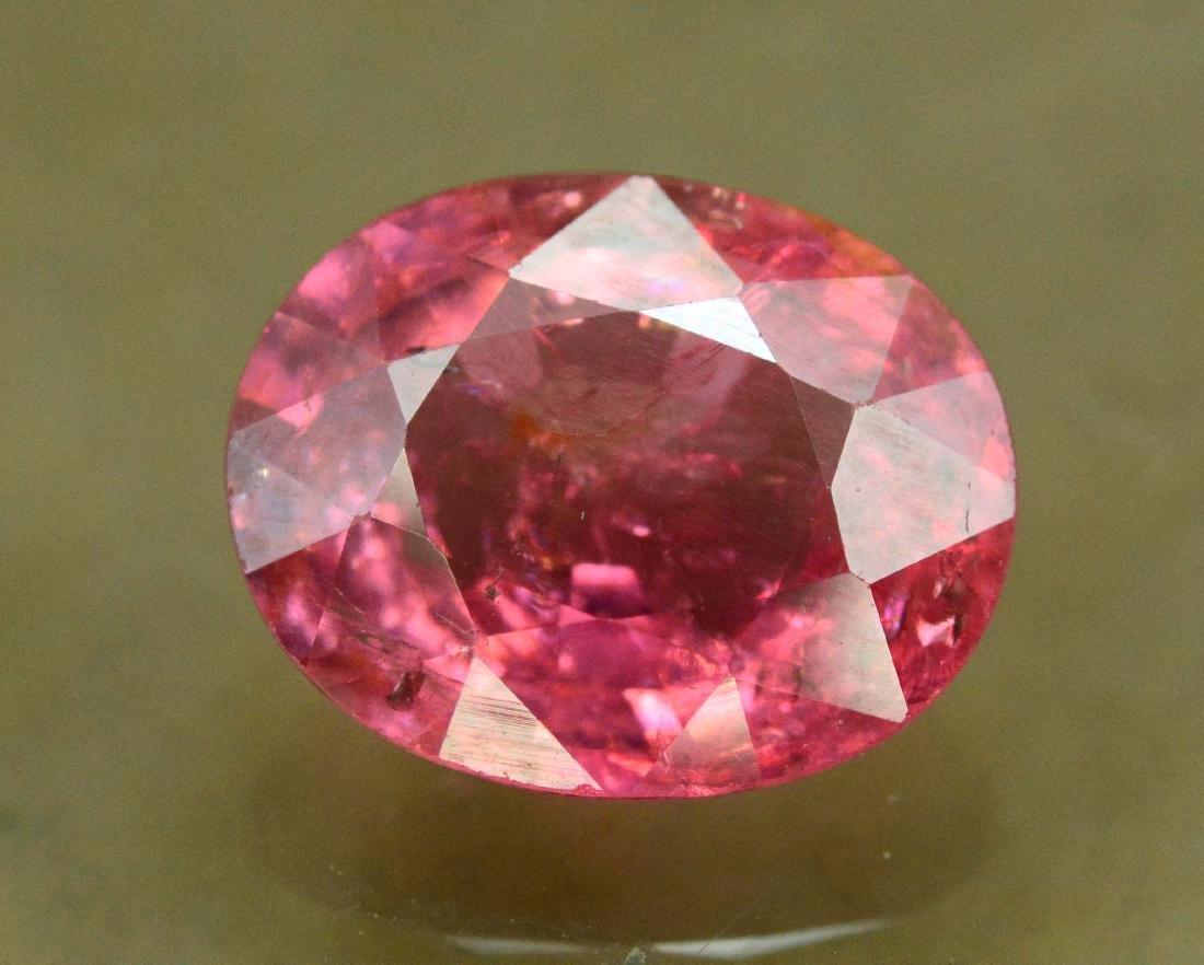 2.55 carats rubellite tourmaline loose gemstone