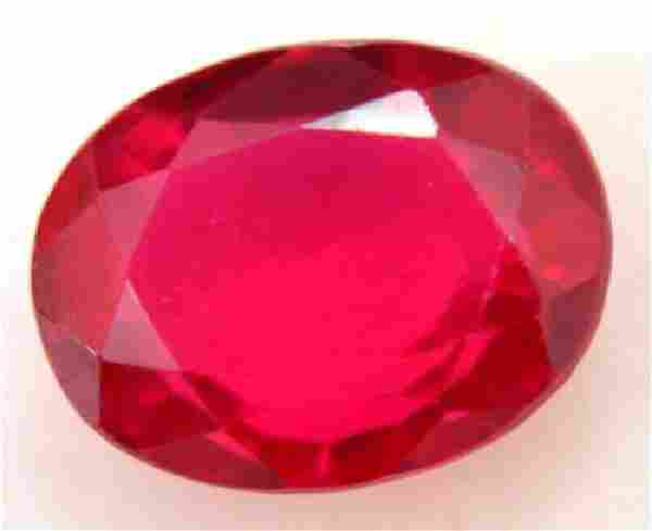 4.30 Ct Natural Blood Red Mozambique Ruby GGL Certified