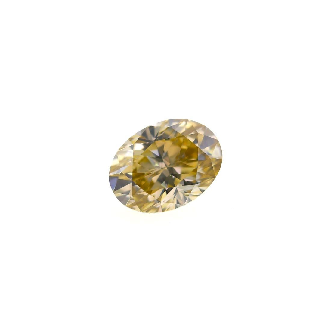 3.54 Ct. Natural Fancy Light Brownish Yellow Oval Shape