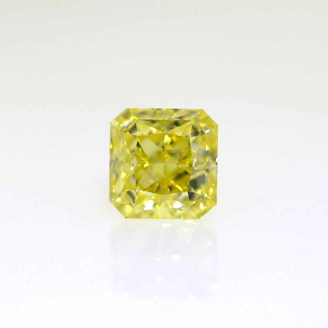 Natural Fancy Yellow 0.73 ct Radiant VS2 Diamond, GIA - 2
