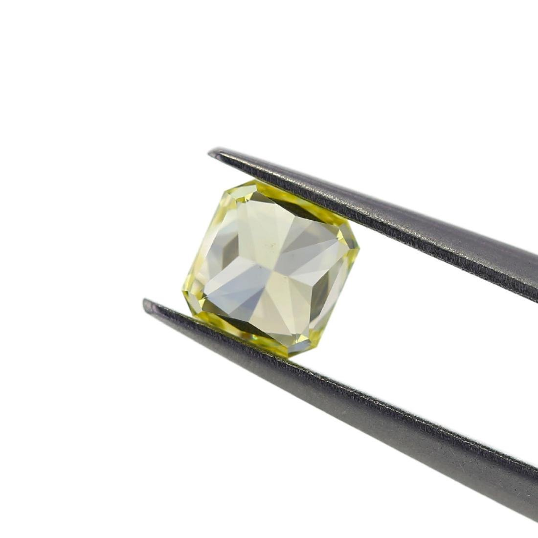 Natural Fancy Yellow 0.73 ct Radiant VS2 Diamond, GIA - 6