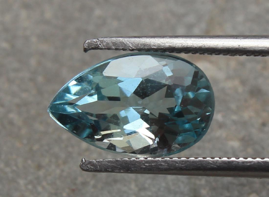 1.74 Ct Aquamarine Pear Gemstone